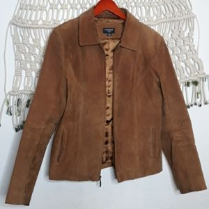 Sonoma 100% genuine leather suede brown jacket